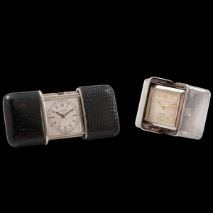 Travel Clocks, Lot of Two