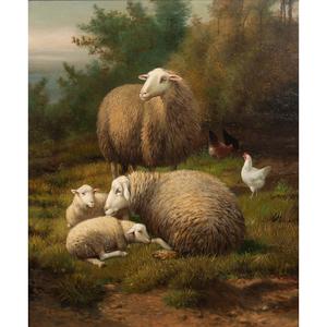 R. A. Dewing (19th Century) Oil on Canvas