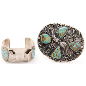 Navajo and Zuni Silver and Turquoise Cowboy Starter Kit