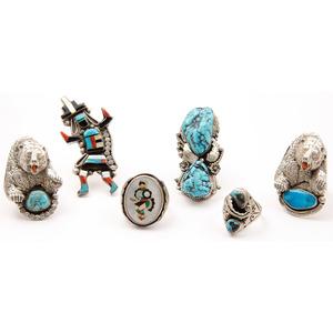 Navajo, Hopi, and Zuni Silver Rings
