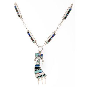 Harold Smith (Dine, 20th century) Navajo Mosaic Inlay Necklace