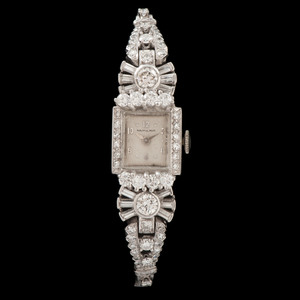 Hamilton Platinum Diamond Wristwatch