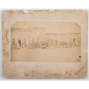 Dodge City, Kansas, Rare Albumen Photograph of Front Street