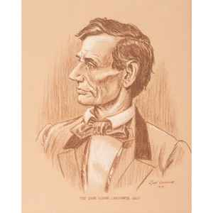 Lloyd Ostendorf, Charcoal Drawing of Abraham Lincoln as Presidential Candidate