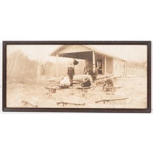 Machine Gun Squad at Camp Plunkett Naval Rifle Range, Wakefield, Mass., World War I-Era Photograph