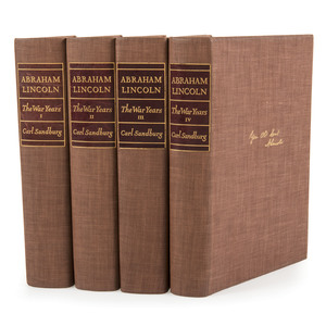 Abraham Lincoln: The War Years, Carl Sandburg, Signed Limited Edition in Four Volumes