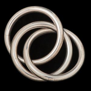Cartier Sterling Silver Interlocking Teething Rattle