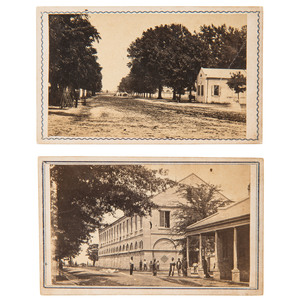 McPherson & Oliver, Two Civil War CDVs of the Baton Rouge Arsenal