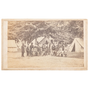 Massachusetts 49th Infantry at Port Hudson, Louisiana, Civil War CDV