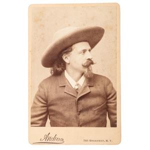 Buffalo Bill Cody Cabinet Card by Anderson, Ca 1880s