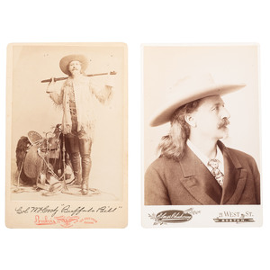 Buffalo Bill Cody, Two Cabinet Cards by Brisbois and Chickering, Ca 1890s
