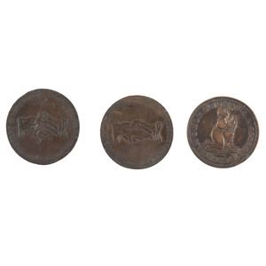 Rare Anti-Slavery Tokens, Lot of 3