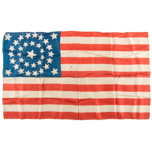 34-Star Silk Parade Flag, Plus
