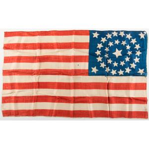 34-Star Silk Parade Flag, Plus