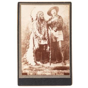Buffalo Bill Cody and Sitting Bull, Cabinet Card by Cross