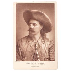 Buffalo Bill Cody Woodburytype Cabinet Card by Elliott and Fry
