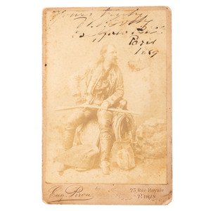 Buffalo Bill Cody Signed Cabinet Card, By Pirou of Paris