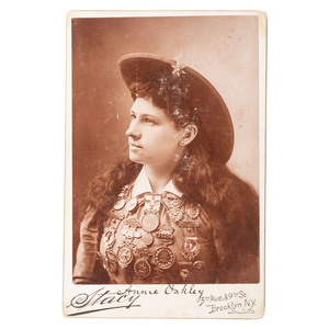 Annie Oakley Cabinet Card by Stacy
