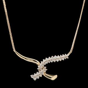 Jose Hess 18k Gold Diamond Necklace