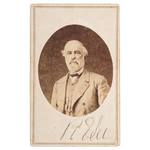 Robert E. Lee, Unpublished Autographed CDV