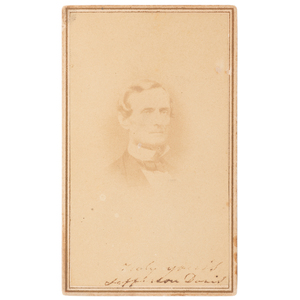Jefferson Davis CDV, Signed and Dated to his Imprisonment in Fort Monroe