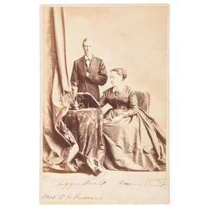 Jefferson Davis and Varina Davis Signed Cabinet Card
