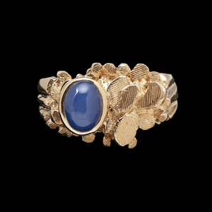 14k Gold Synthetic Star Sapphire Ring
