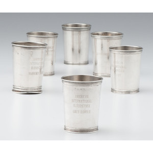 Sterling Presentation Julep Cups, Including Manchester Equestrian Cups
