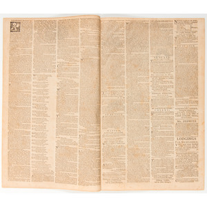 Rivington's New-York Gazetteer,  Rare Colonial American Newspaper with Reactions to the Intolerable Acts, April 1774
