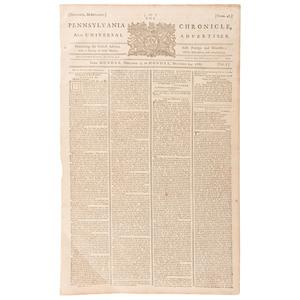 [Americana - 18th Century - Historic Newspapers] John Dickinson,