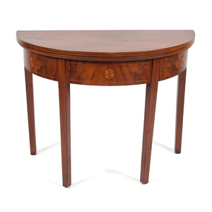 Federal Inlaid Card Table