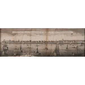 after Bishop Roberts (American, active 1735-d. 1739) Engraving of Charlestown
