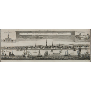 after George Heap (British, 1714-1752) Etching of Philadelphia