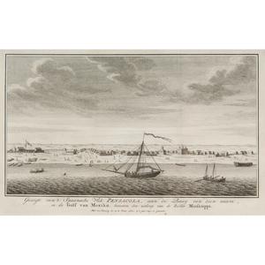 Isaak Tirion (Dutch, 1705-1765) View of Pensacola Etching