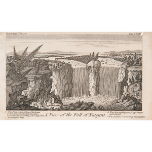 after Peter Kalm (Swedish, 1716-1779) Engraving of Niagara Falls