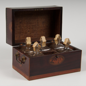 Tantalus Set with Shell Inlay