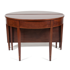 Hepplewhite Demilune Two-Part Banquet Table