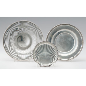 American Sterling Trays and Shell Dish