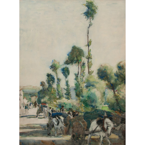 Alice Schille (American, 1869-1955) Watercolor