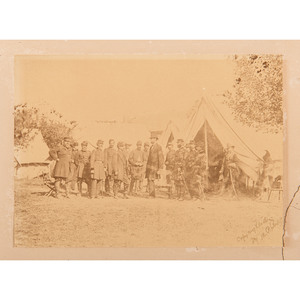 President Lincoln at Battlefield of Antietam, Photograph Printed and Signed by Moses P. Rice