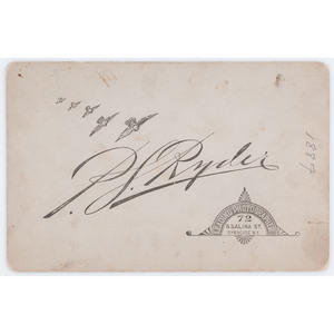Post-War Cabinet Card of Berdan Sharpshooter Horace Warner with Experimental Rifle
