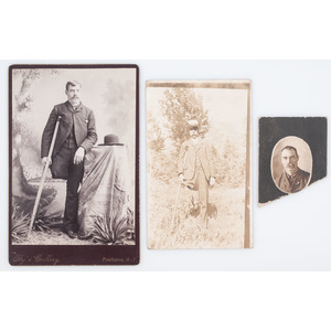 C.S. Fly, Tombstone, Arizona Cabinet Card Possibly Showing Civil War Veteran Charles Logue, 95th New York Infantry, WIA Hatcher's Run, Plus