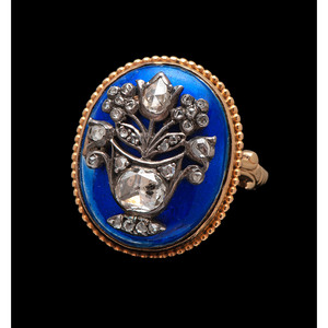 Victorian Enamel and Diamond Ring