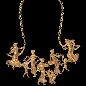 Eric de Kolb Gold Statement Necklace