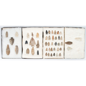 A Collection of Various Points, Richard Bourn, Sr. Collection, Old Saybrook, Connecticut