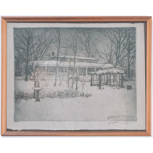 Herman Wessel and E.T. Hurley Etchings