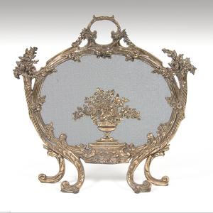 Louis XV Style Brass Fireplace Screen