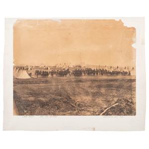Civil War Albumen Photograph of the 7th Delaware Battery Defending Washington, DC, 1863