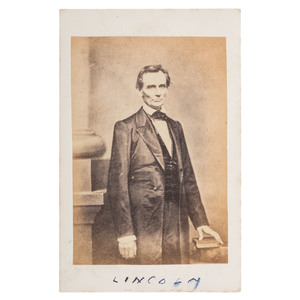 Abraham Lincoln CDV by Brady, Taken Before the Cooper Union Speech