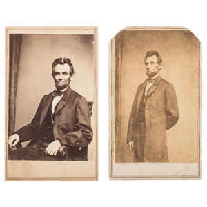 Abraham Lincoln, Two CDVs by Brady/Anthony
